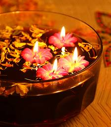 Aapno Rajasthan Flower Wax Candle Dyas- Set of 4