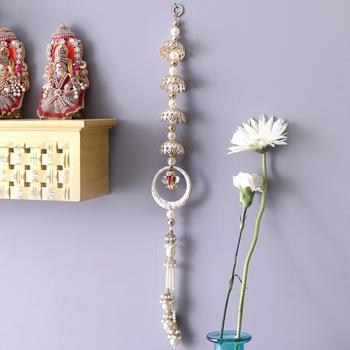 Aapno Rajasthan Enchanting White Beads Door Hanging