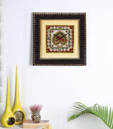 Buy Aapno Rajasthan Marble Wall Clock with Dual Dancing Peacock Motif wall-clock online