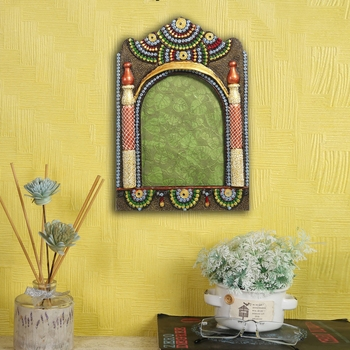 Aapno Rajasthan Beautiful Multicolor Wooden Photo Frame