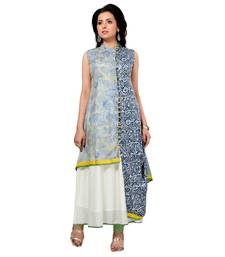 Multicolor printed art silk kurti