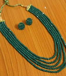 Green swarovski crystal necklace-sets