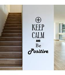 Keep calm and be positive Quote Decal wall-decal