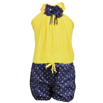 Yellow Plain Chiffon Kids Tops