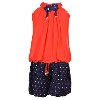 Red Plain Chiffon Kids Tops