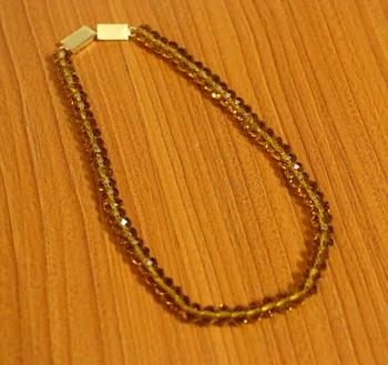 Yellow swarovski crystal necklaces
