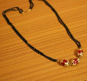 Red Onyx Mangalsutra