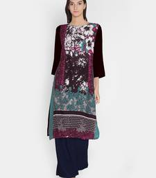 Buy Multicolor printed cotton cotton-kurtis cotton-kurtis online