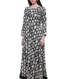 Black embroidered viscose kurtis