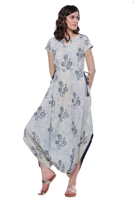 Indigo printed cotton kurtis