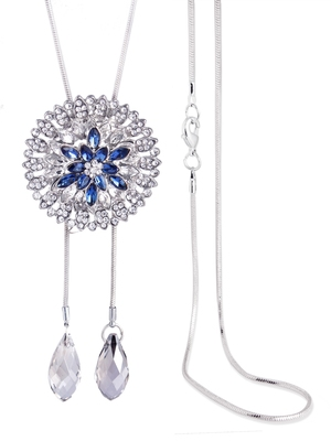 Blue crystal necklace sets