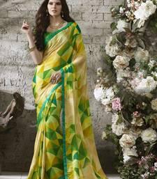 Buy Beige printed chiffon saree chiffon-saree online