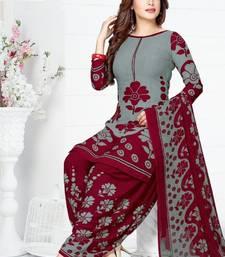 Buy Multicolor Printed Crepe Unstitched Salwar With Dupatta multicolor-salwar-kameez online