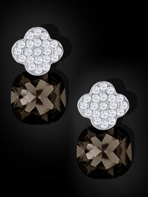 Black crystal studs