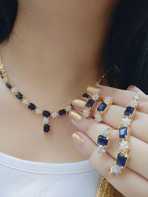 Glittering Combo of Necklace , Bracelet , Ring for Women