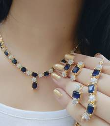 Buy Glittering Combo of Necklace , Bracelet , Ring for Women Necklace online