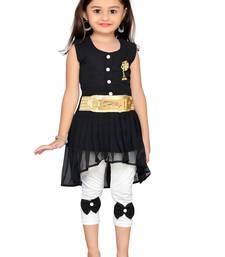 Black kids party wear dress