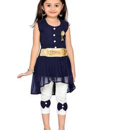 Navy blue kids party wear dress