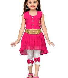 Pink kids party wear dress