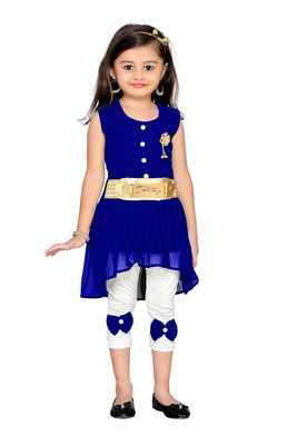 Royal blue kids party wear dress
