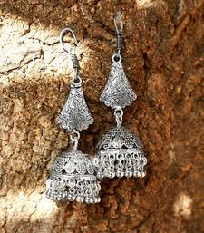 ZeroKaata Tribal Jewellery Bell Shaped Long Jhumkis With Pretty Hangings