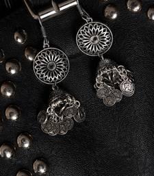 Moonlight White Stone Oxidized Beads Crystal Pendant Necklace Set WNS1039