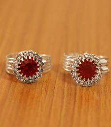 Red Crystal Toe-Rings