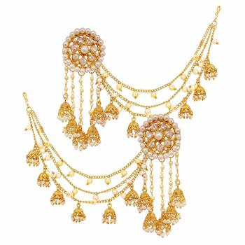 Designer Full Bahubali devsena Earrings Earcuffs Set