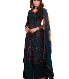 Chhabra 555 Chanderi Digital Print Semi-stitched suit with Swarovski Crystal embellishments dress-material