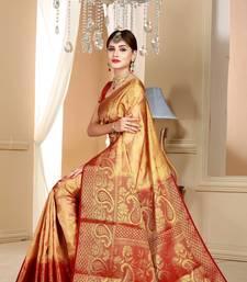 Buy Multicolor Woven Art Silk Saree With Blouse art-silk-saree online
