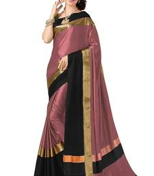 Buy Light pink plain cotton silk saree with blouse cotton-silk-saree online