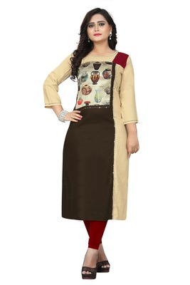 Multicolor embroidered rayon kurti
