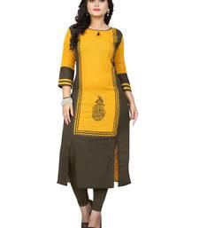 Yellow printed kurti