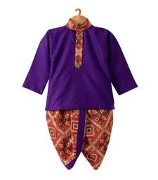 Bandhni Print Dhoti Kurta   Purple