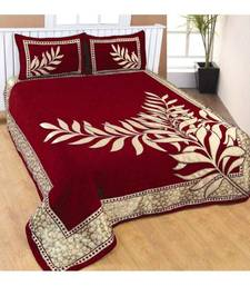 Buy Heavy Classic Designer Chenille (Soft Touch) Bed Cover with Two Pillow Covers by FRIMERR. bed-sheet online