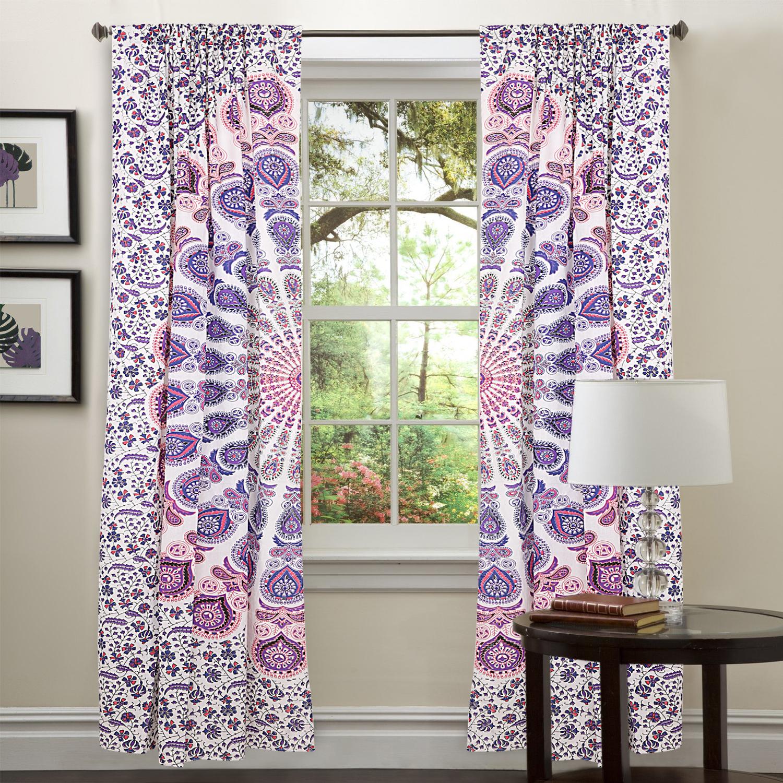 Buy Curtains Online From Designers Across India Kemeja Lavender Multicolor Shop At Velvet