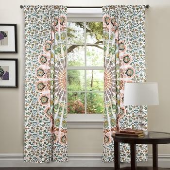 Mandala Window Curtains Net Sheer Drape Balcony Room Decor Home Curtain Bohemian
