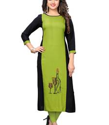 Multicolor embroidered rayon kurtis