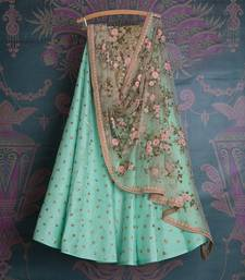 Sea Green Sequin Embroidered lehenga Choli with Dupatta lehenga-choli