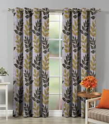 FABZI GREEN PRINTED POLYESTER WINDOW CURTAINS SET OF 2 PIECES (WIDTH 4 FT X LENGTH 5 FEET)