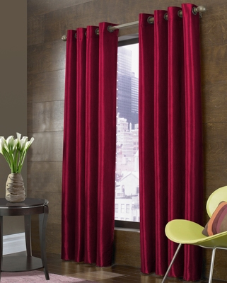 FABZI MAROON PRINTED POLYESTER  WINDOW CURTAINS SET OF 2 PIECES (WIDTH 4 FT X LENGTH 5 FEET)