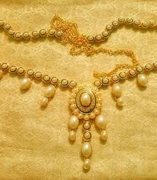 Buy White pearls waist belt kamarband ethnic wedding jewellery waist-belt online