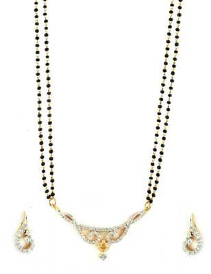 Clear CZ AD American Diamond Mangal Sutra Jewellery for Women - Orniza