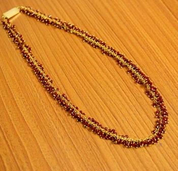 Maroon swarovski crystal necklaces