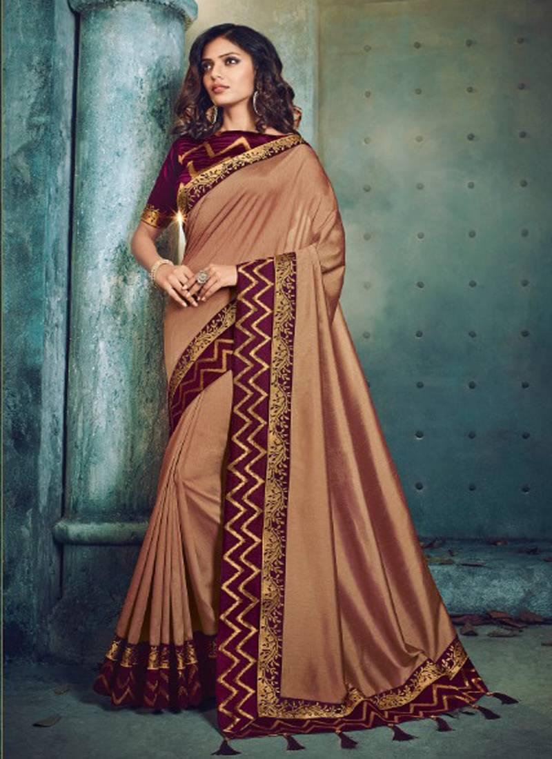 f4aedfe2e84468 Monjolika Fashion Mauve plain silk saree with blouse - Monjolika ...