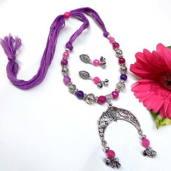 Purple  Oxidized Neckset