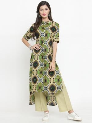 Indibelle Multicolor woven cotton kurtis