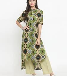 Multicolor woven cotton kurtis