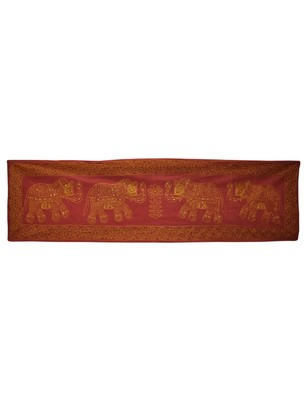 Lal Haveli Designer Embroidered Decorative wall Cotton Elephant wall Hanging