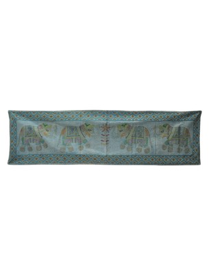 Wall Decorative Embroidery Work Cotton Tapestry 65 X 17 Inches